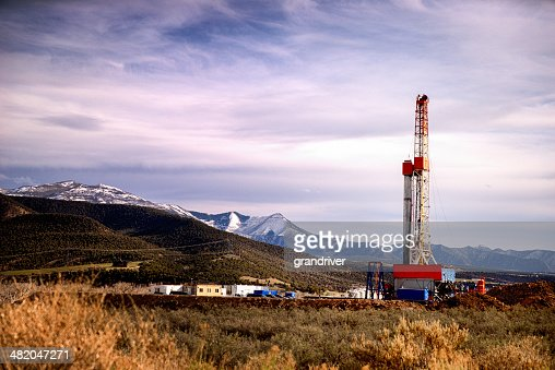 Mountain Drilling Fracking Rig