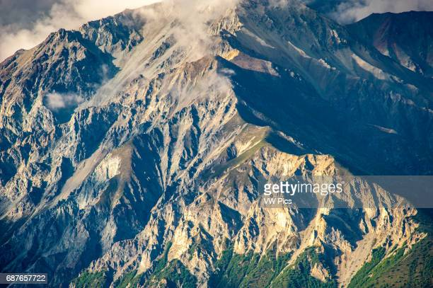Mountain face of Chucach Mountains near Palmer Alaska