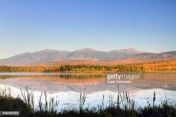 Mountain foliage reflections