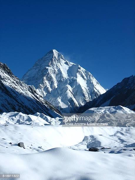 K2 mountain from Concordia in Karakoram Range