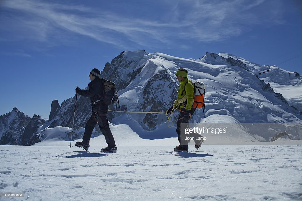 Mountain Guiding : Stock Photo