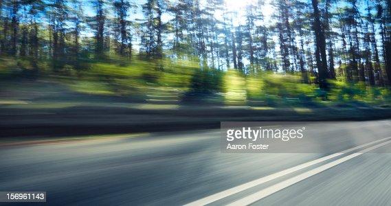 Mountain Highway Through the Trees