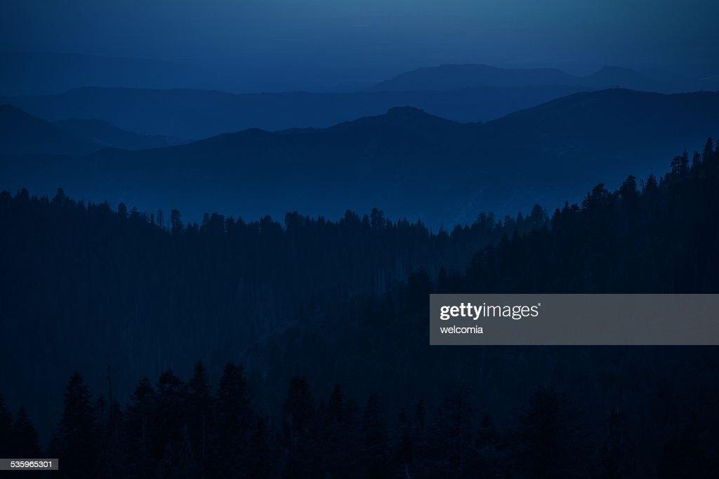 Mountain Hills Silhouettes : Stock Photo