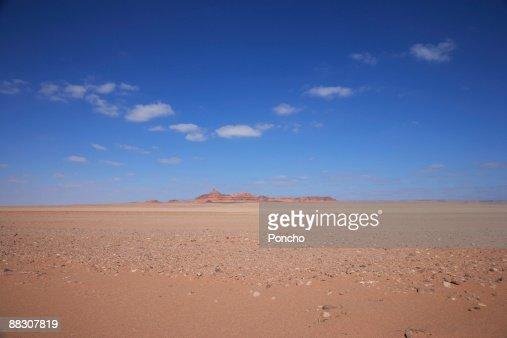 Mountain in desert landscape