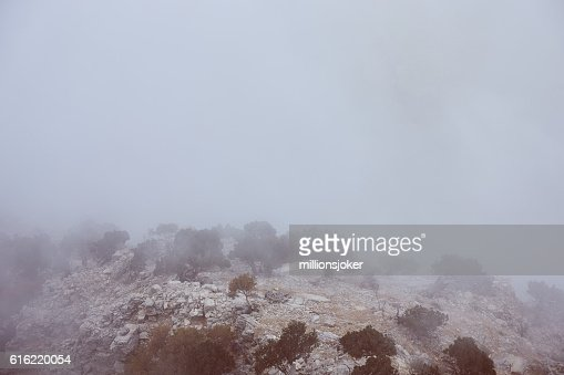 Mountain in Fog : Stock Photo