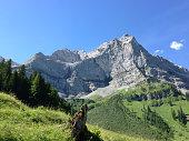 Photo of a mountain in the German Alps of Garmisch-Partenkirchen.