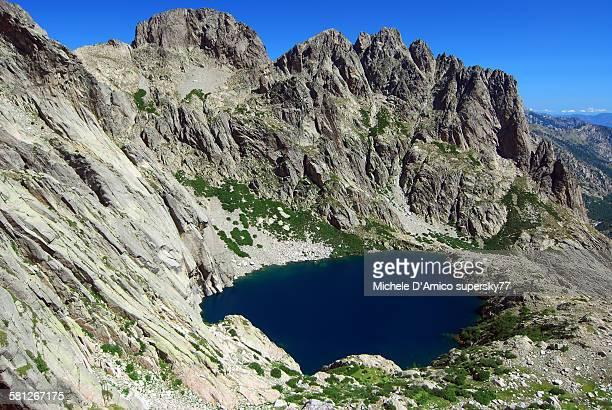 Mountain lake in the granite