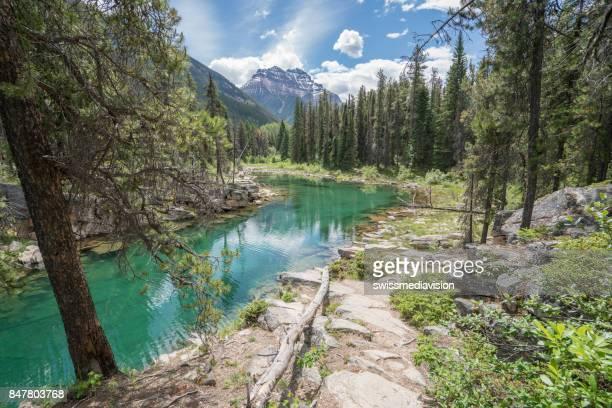 Mountain lake landscape in Canada