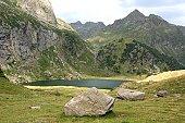 Mountain Lake Pyrenees, Lac d'Espingo