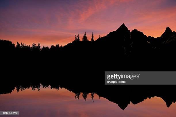 XXXL mountain lake sunset