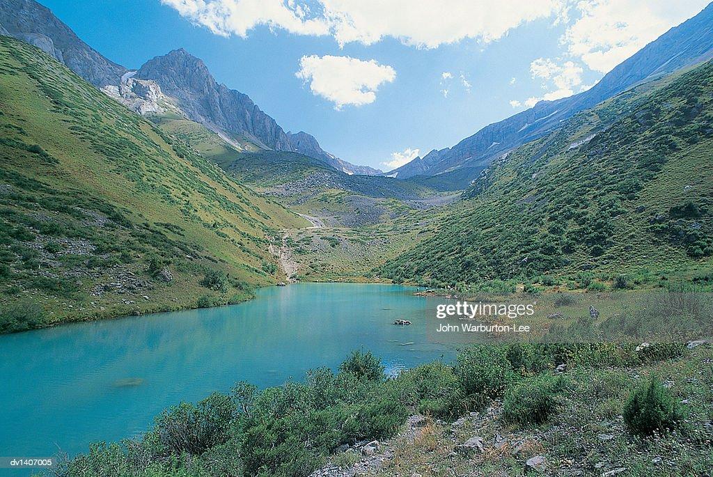 Mountain Lake, Tien Shan, Kazakhstan, Asia : Stock Photo
