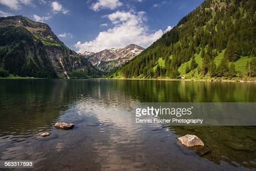 Mountain lake view at Vilsalpsee