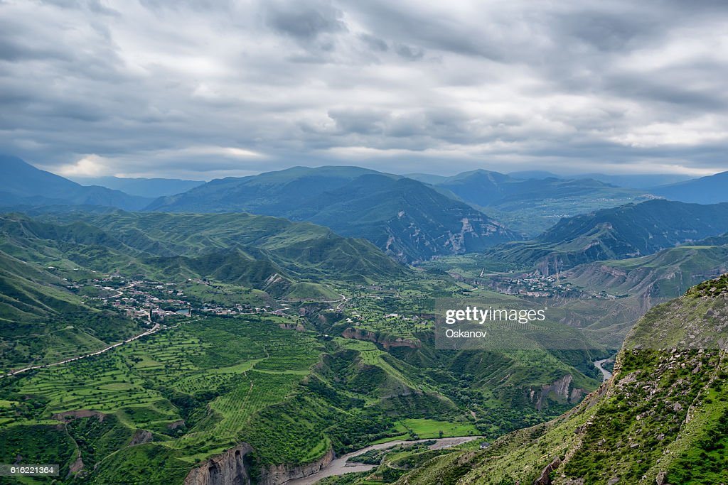 Mountain landscape in Dagestan : Stock Photo