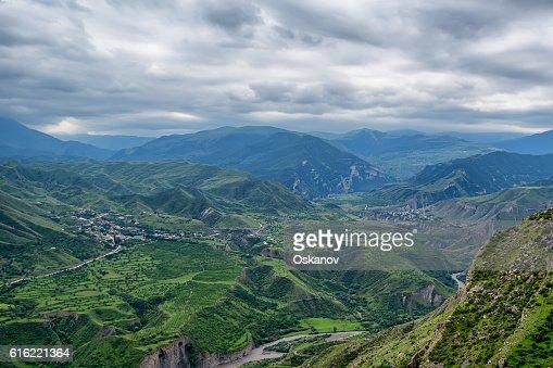 Mountain landscape in Dagestan : Stock Photo