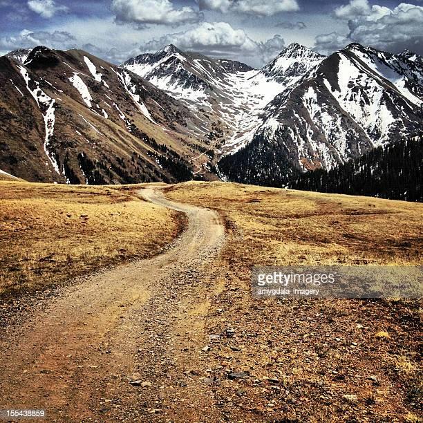 mountain landscape road