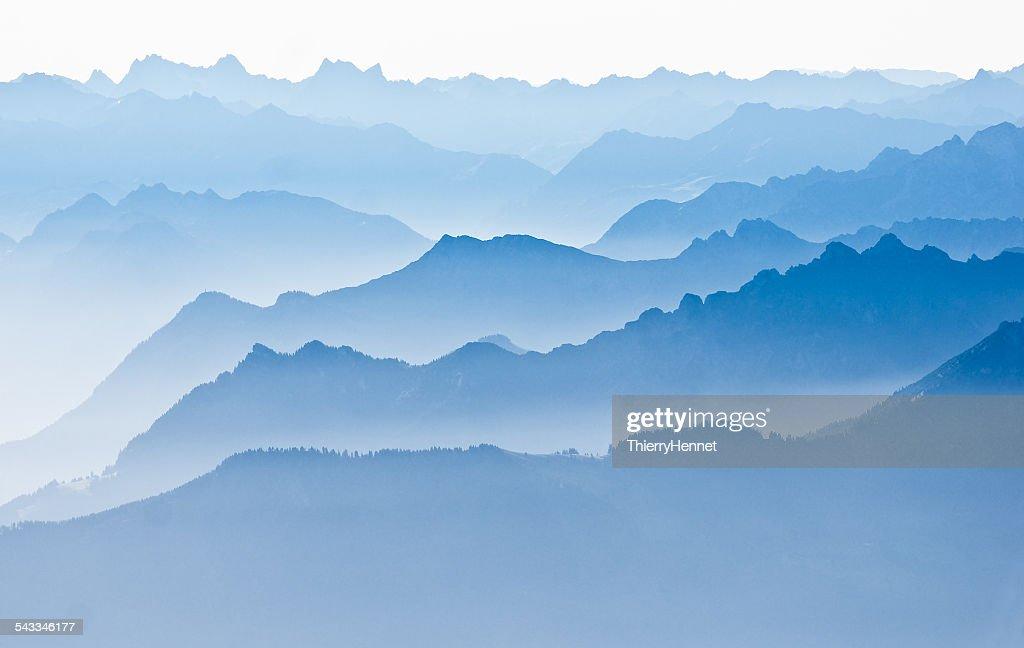 Mountain landscape, Saentis, Appenzell, Switzerland : Photo