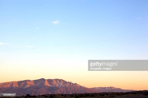 mountain landscape sunset sky