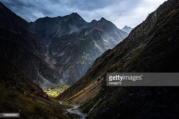 Paysage de montagne avec un spectaculaire
