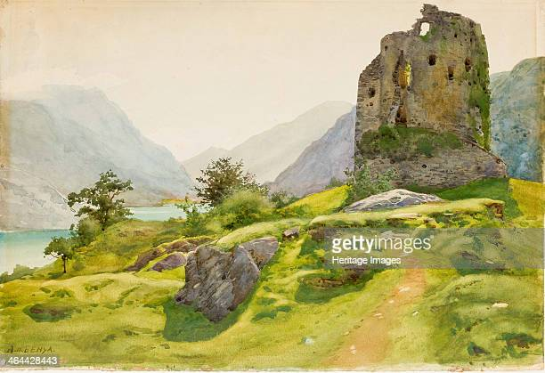 Mountain Landscape with Ruin From a private collection