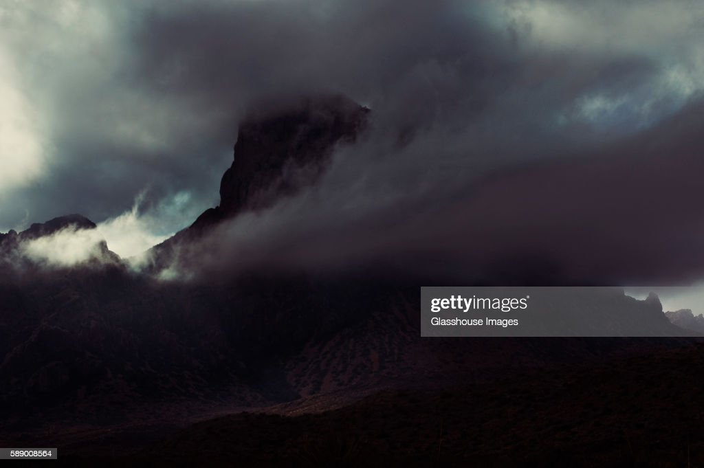 Mountain Obscured by Ominous Cloud