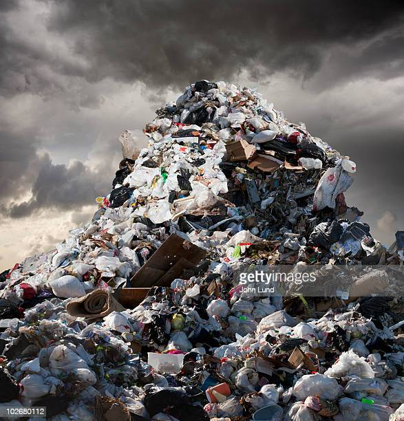 A Mountain of Garbage Looms Above