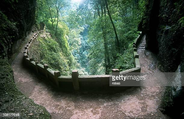 Mountain path in China