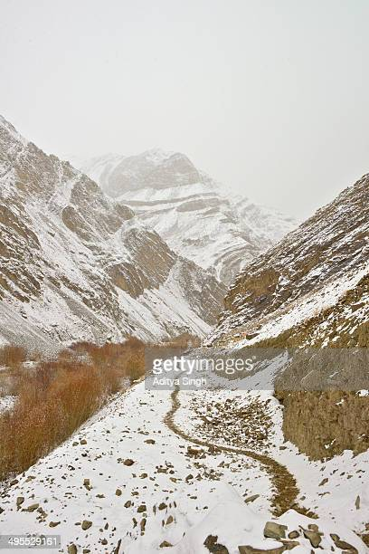 Mountain path in winters