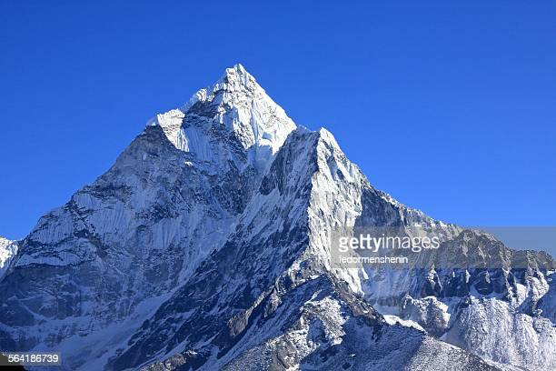 Mountain peak covered in snow
