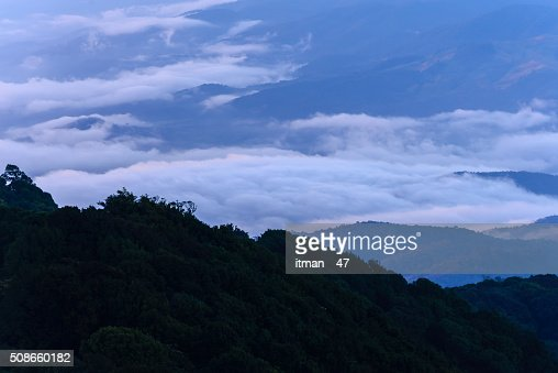 Mountain peak of Doi Pha Hom Pok, Chiang Mai, Thailand. : Stock Photo