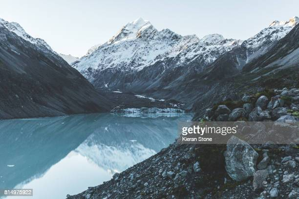 Mountain Peak with Glacial Lake
