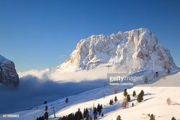Mountain peak with snow in winter, Italy