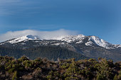 Mountain peaks at the southern end of the Cascade Range in Siskiyou County California