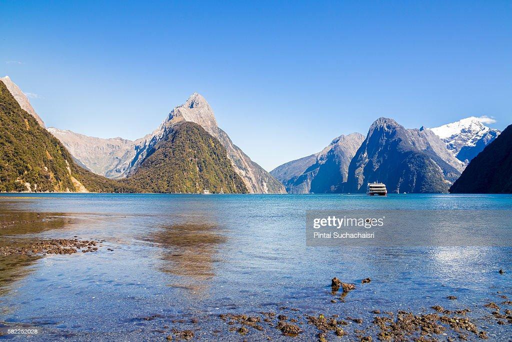 Mountain Peaks of Milford Sound
