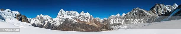Mountain peaks snowy wilderness panorama