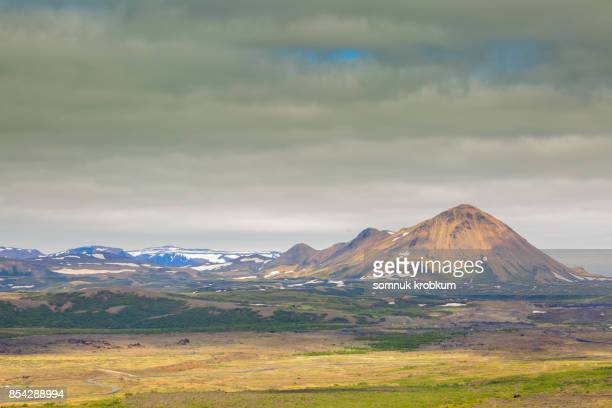 Mountain range in summer;Iceland