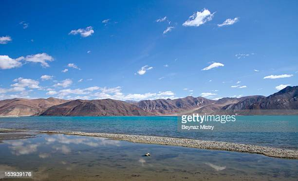 mountain range, Pangong Lake. Ladakh Region, India.
