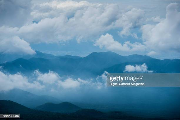 Mountain range shrouded with clouds in Japan taken on June 17 2016