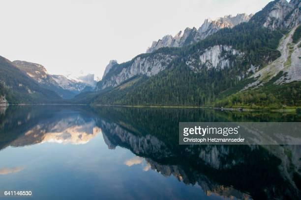 Mountain range with lake