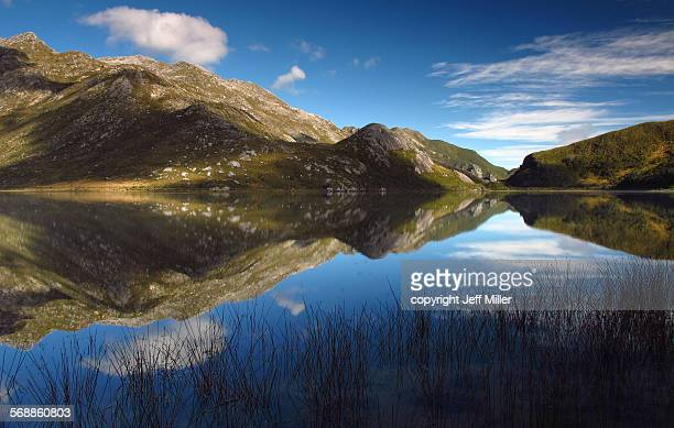Mountain reflection, Boulder Lake, New Zealand