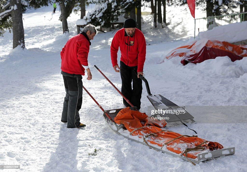 Mountain rescue service : Stock Photo