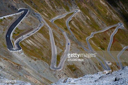 Mountain Road Curve, Stelvio Pass.