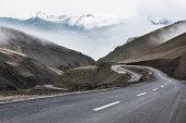 Mountain road in Tibet, China