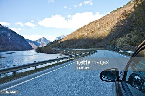 Mountain road, Norway : Stock Photo
