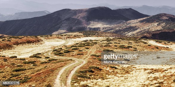 Mountain road : Bildbanksbilder