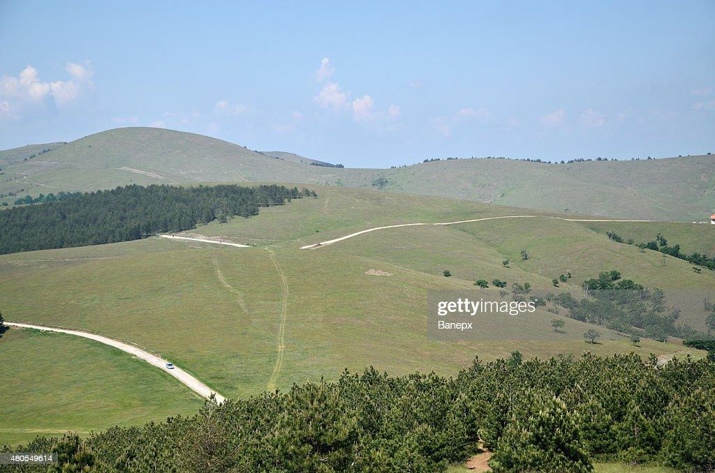 Ruta de montaña : Foto de stock