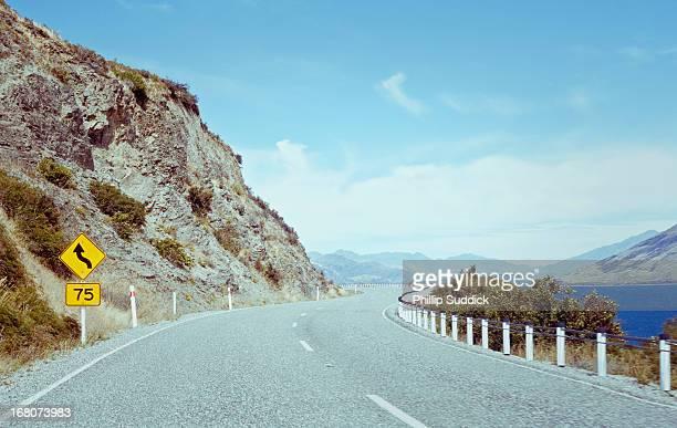 Mountain road through New Zealand