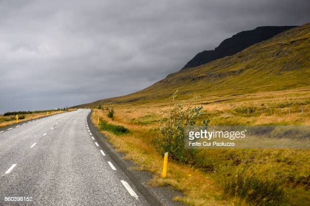 Mountain road to Borgarnes, west of Iceland