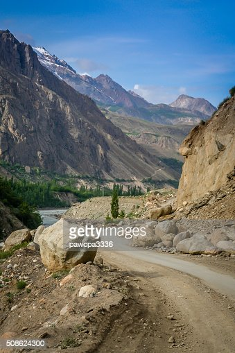 Mountain Road to Chitral : Stock Photo