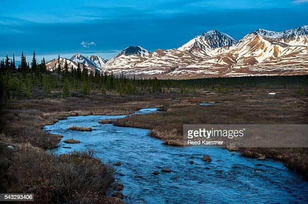 Mountain scene near Denali National Park, Alaska