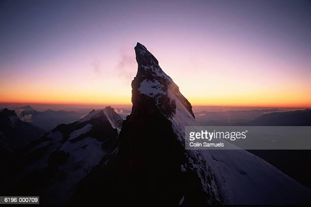 Mountain Summit at Sunset